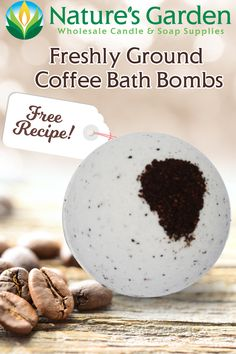 Free Freshly Ground Coffee Bath Bomb Recipe by Natures Garden