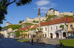 Trencin, Slovakia. Places To Travel, Places Ive Been, Mansions, House Styles, Image, Travelling, Pride, Art, Mansion Houses