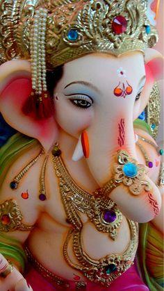 Ganapti Bappa at home Om Gam Ganapataye Namaha Shri Ganesh Images, Sri Ganesh, Ganesh Lord, Ganesha Pictures, Ganesh Chaturthi Decoration, Happy Ganesh Chaturthi Images, Ganesh Wallpaper, Lord Shiva Hd Wallpaper, Om Gam Ganapataye Namaha