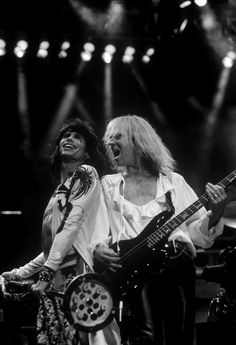 Steven Tyler and Tom Hamilton of Aerosmith