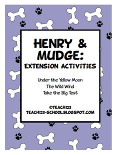 FREE printable: All children love dogs.  What better way to nurture their love of dogs than reading about a funny dog named, Mudge!