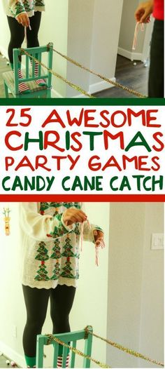 25 funny Christmas party games that are great for adults, for groups, for teens, and even for kids! Try them at the office for a work party, at school for a class party, or even at an ugly sweater party! I cant wait to try these for family night this Chr