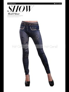 Aliexpress.com : Buy New Arrival Slim Stretch Pants Denim Print Leggings Fashion Assembled Thick Capris Women Sexy Tight Joggers from Reliable denim print leggings suppliers on Hot Genie Authentic Brand Shop | Alibaba Group