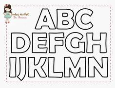 Sonhos de Mel 'ੴ - Crafts em feltro e tecido: °°Molde Alfabeto...