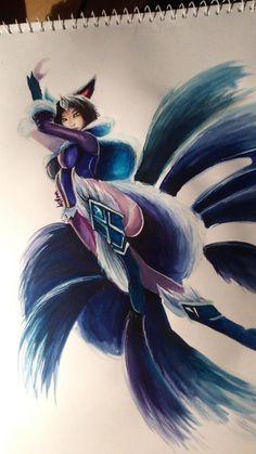 League of Legends: Midnight Ahri by Kytru on DeviantArt