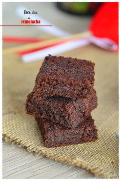 DECORECETAS: Brownie de remolacha