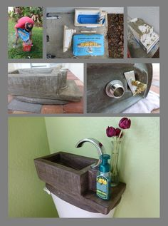 Can you top this concrete toilet bowl sink topper from Mike and Lauren?  What will you create? #tinyhouseliving