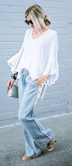 fashion+trends+/+wide+leg+pants+++oversize+blouse+