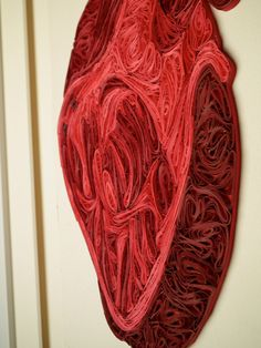 Quilled human heart, Fine art anatomical diagram, framed quilled fine art, doctor decor. $1,590.00, via Etsy.