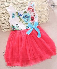 Baby Girl Summer Dress - I want to try to make this, with these colors, so pretty! Girls Summer Outfits, Summer Girls, Kids Outfits, Summer Dresses, Baby Girl Dresses, Baby Dress, Baby Girl Fashion, Kids Fashion, Modelista