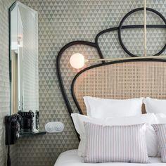 Hotel Panache - Tete de lit canage, mirroir