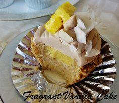 Raw Piña Colada Cupcakes | Fragrant Vanilla Cake