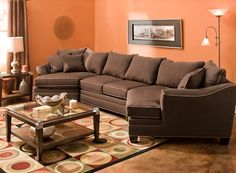 Gentil Microfiber Sectional Sofa | Sectional Sofas | Raymour And Flanigan Furniture