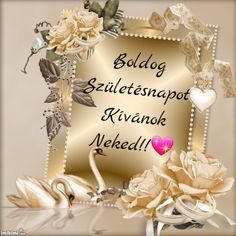 Nekem tetszik. Holidays And Events, Happy Birthday, Place Card Holders, Flowers, Tulips, Happy Brithday, Urari La Multi Ani, Happy Birthday Funny, Royal Icing Flowers