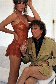 Gene Wilder and Kelly Le Brock in The Woman in Red