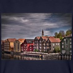 Trondheim Altstadt - Männer Bio-T-Shirt
