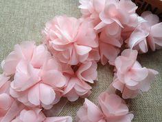 Light Pink Chiffon Lace Flowers Chiffon Trim by lacelindsay Chiffon Flowers, Lavender Flowers, Red Flowers, Red Chiffon, Bow Tie Wedding, Red Wedding, Wedding Ideas, Swatch, Blush Wedding Colors
