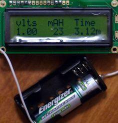 Arduino battery capacity tester
