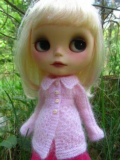 Cardigan pour Blythe rose clair par smilte sur Etsy