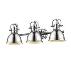allen + roth 3-Light Vallymede Brushed Nickel Bathroom
