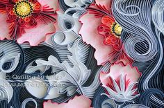Original Paper Quilling Wall Art The girl and by QuillingbyLarisa