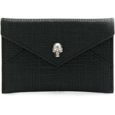 Alexander McQueen skull envelope clutch ($195) ❤ liked on Polyvore featuring bags, handbags, clutches, black, alexander mcqueen clutches, skull purse, skull clutches, embellished purse and skull handbag