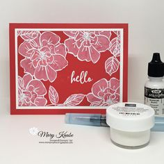 Send your friends a card made with the Whitewashing Technique and the To A Wild Rose Stamp Set. Embossing Techniques, Card Making Techniques, Hello Craft, Card Tutorials, Flower Cards, Creative Cards, Stampin Up Cards, Cardmaking, Birthday Cards