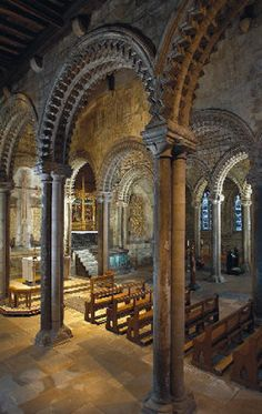 Galilee Chapel, Durham Cathedral in North East England, UK