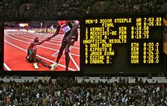 Summer Olympics - London 2012 - Mens 3000m Steeplechase, Final - Kenya takes the Gold & the Bronze, France gets the Silver.