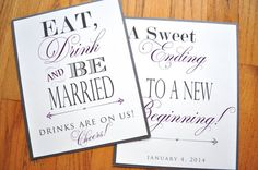 Wedding Props and Signs by JaxDesigns27 on Etsy