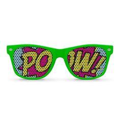 POW green Party Wayfarer Sunglasses