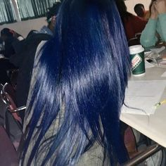 Weave Hairstyles, Straight Hairstyles, Hair Inspo, Hair Inspiration, Curly Hair Styles, Natural Hair Styles, Dark Blue Hair, Midnight Blue Hair, Black Hair