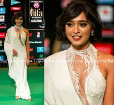 Beautiful #Lacy #Neckline on actor @SayaniGupta (Jolly LLB 2, Jab Harry Met Sejal..) in Gaurav Gupta Couture, RedCarpet Gown at IIFA 2016. @highheelconfidential Bollywood Fashion via @sunjayjk