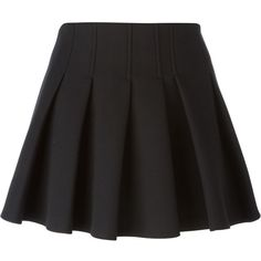 Alexander Wang Pleated Mini Skirt found on Polyvore
