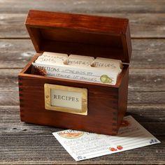 Wood Recipe BoxHandmade in USA