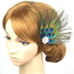 Sandistore Women Beautiful Feather Wedding Hair Clip Pin (Peacock) *** You can find more details by visiting the image link.