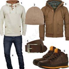 Beige-Braunes Winteroutfit mit Hoodie und Boots (m0845) #newbalance #hoodie #mütze #jeans #outfit #style #herrenmode #männermode #fashion #menswear #herren #männer #mode #menstyle #mensfashion #menswear #inspiration #cloth #ootd #herrenoutfit #männeroutfit