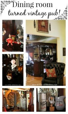 Dining room turned Irish pub. Behind every dining room, is a story. Here's one for you.