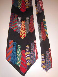 Save the Children 100% Silk Novelty Tie Tie Fun Day Tie Lovers I Love Ties Black #SavetheChildren #NeckTie
