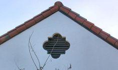 quatrefoil 5th Attic Vents, Mission Style Homes, Gable Vents, Moore House, The Gables, Gothic House, St Francis, Quatrefoil, Spanish Style