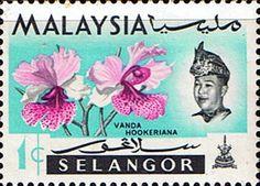 Selangor 1965 Flowers Orchids