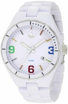 adidas originals Watches Cambridge Mid Size (White Multi) adidas Originals. Save 15 Off!. $80.75. Deployment Buckle. Case Thickness: 11.5mm. 3 handDate. Case Diameter: 44mm. Shiny Black Nylon Plastic with a Gold Bezel