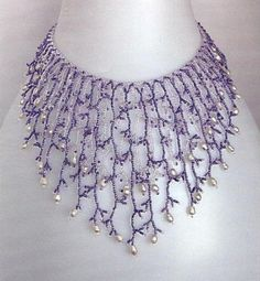 Fringe Necklace tute  (Russian) #Seed #Bead #Tutorial