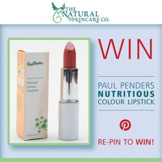 Follow us and re-pin this image for your chance to #win a Paul Penders Nutritious Colour lipstick!