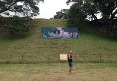 Charlotte Graham and Lisa Reihana Billboard, Splore, Tapakakanga, 2012
