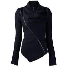$19.93 Stylish Cowl Neck Long Sleeve Zippered Women's Leather Trim Jacket