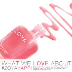 What We Love About: Zoya Nail Polish in Happi Mani Pedi, Manicure And Pedicure, Perfect Pink, Pretty In Pink, Zoya Nail Polish, Nail Polishes, Friendly Nails, Fun Nails, Nice Nails