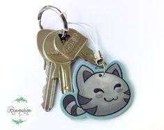 Cat charm - Kawaii cat Handmade from Shrink plastics