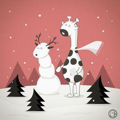 I want to make a snow giraffe!