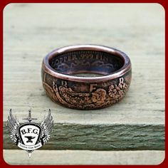 Walking Liberty Hancrafted 1/4oz .999 Fine by BFGCustomCoinRings